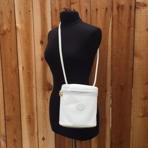 💯 RARE!! GUCCI Vintage White Monogram Bucket Bag